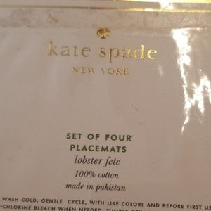 kate spade Dining - Kate Spade set o 4 Lobster placemats. NEW